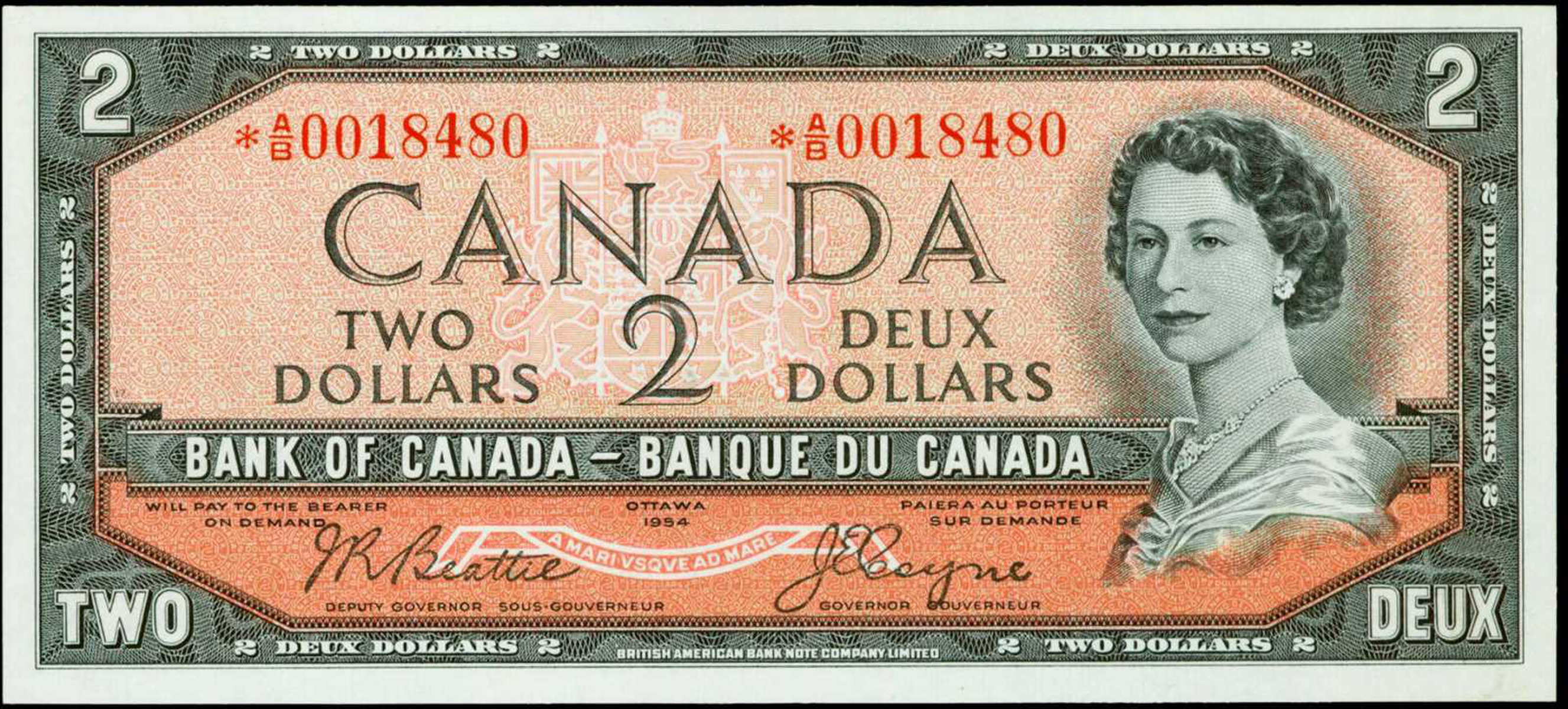 Value Of Devils Face 2 Bill From The Bank Of Canada
