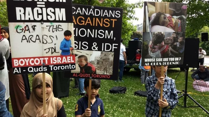 Al-Quds Day demonstration in Toronto on June 9, 2018.