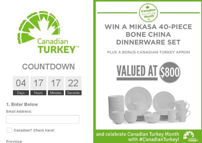 Canadian Turkey Month Contest