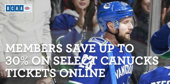 BCAA Canucks Sponsored Game Night Experience Contest