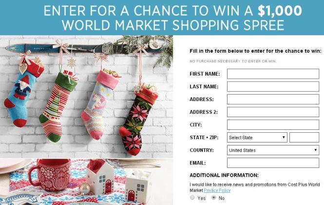 Country Living World Market Sweepstakes