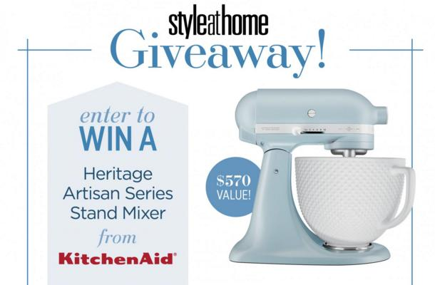 Style At Home KitchenAid Stand Mixer Giveaway