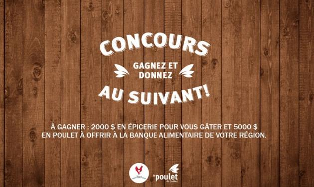 Quebec Chicken Celebrate & Give to the Next Contest