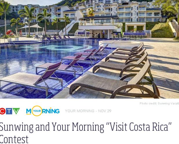 Sunwing And Your Morning Visit Costa Rica Contest