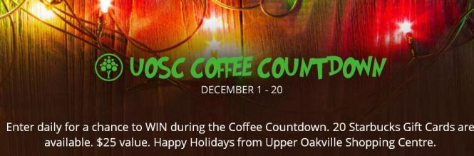 Upper Oakville Shopping Centre Coffee Countdown Contest