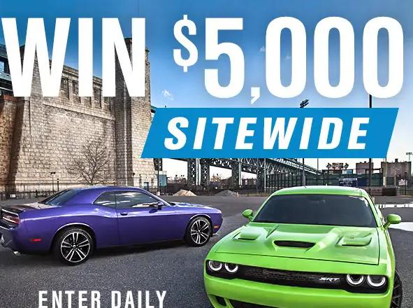 Turn 5 Challenger Monthly Sweepstakes