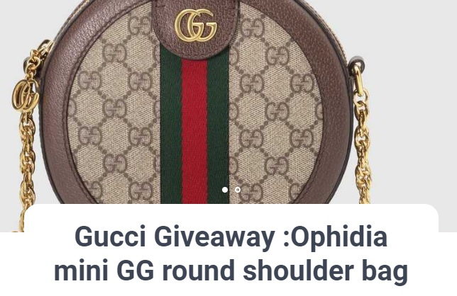 51a680ed8c9962 X Cluslay Gucci Giveaway - Win A Ophidia Mini GG Round Shoulder Bag ...
