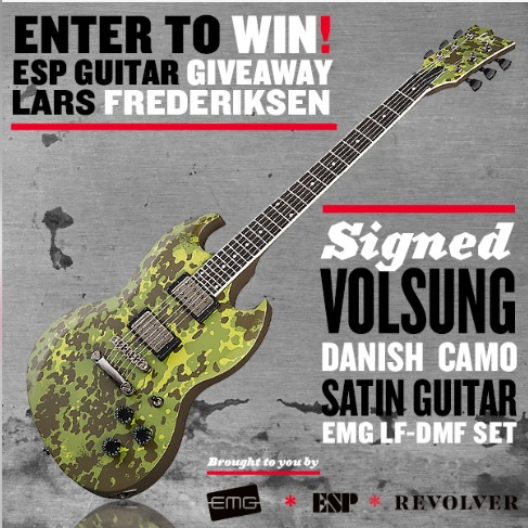 Lars Frederiksen Signed Guitar Giveaway - Win Signature ESP
