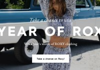 Roxy For A Year Sweepstakes