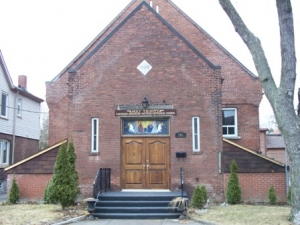 Exterior view of Holy Trinity Church, site of the Canada Goju Toronto Dojo