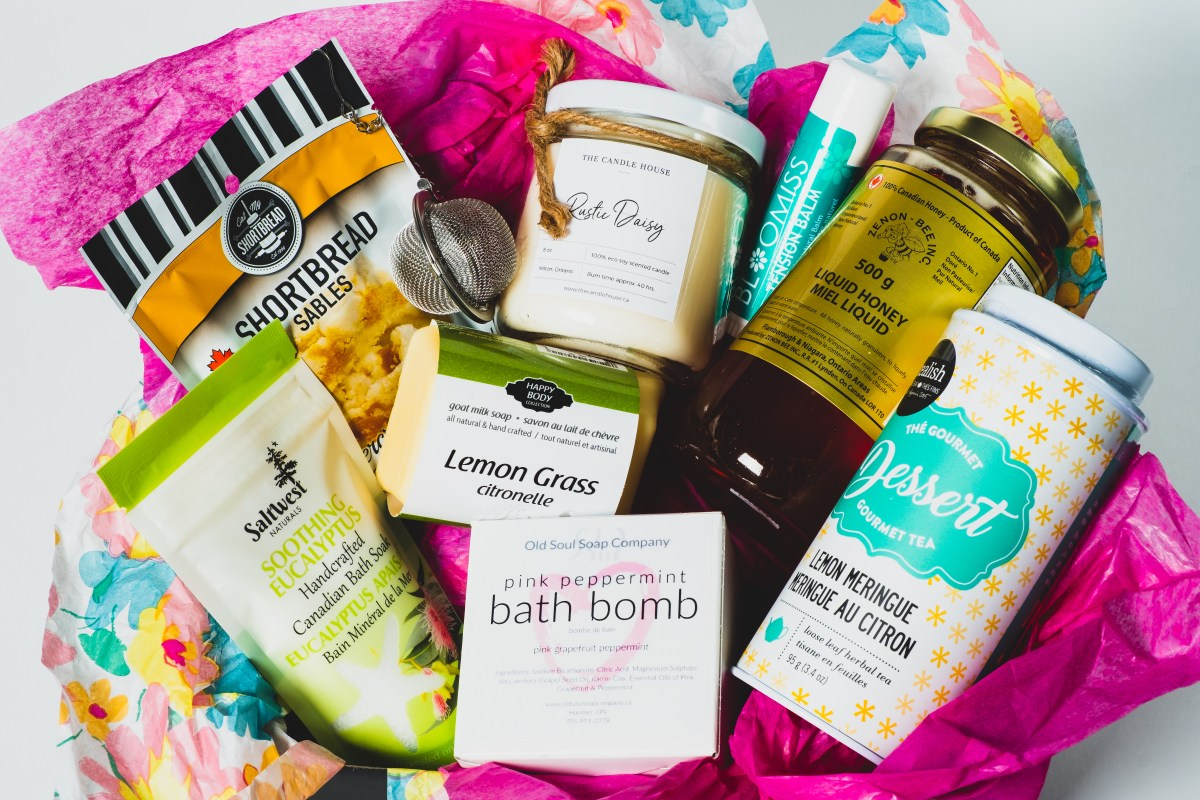 Treat Yourself Pamper Box by Canada in a Box 100% Canadian Subscription & Gift Boxes