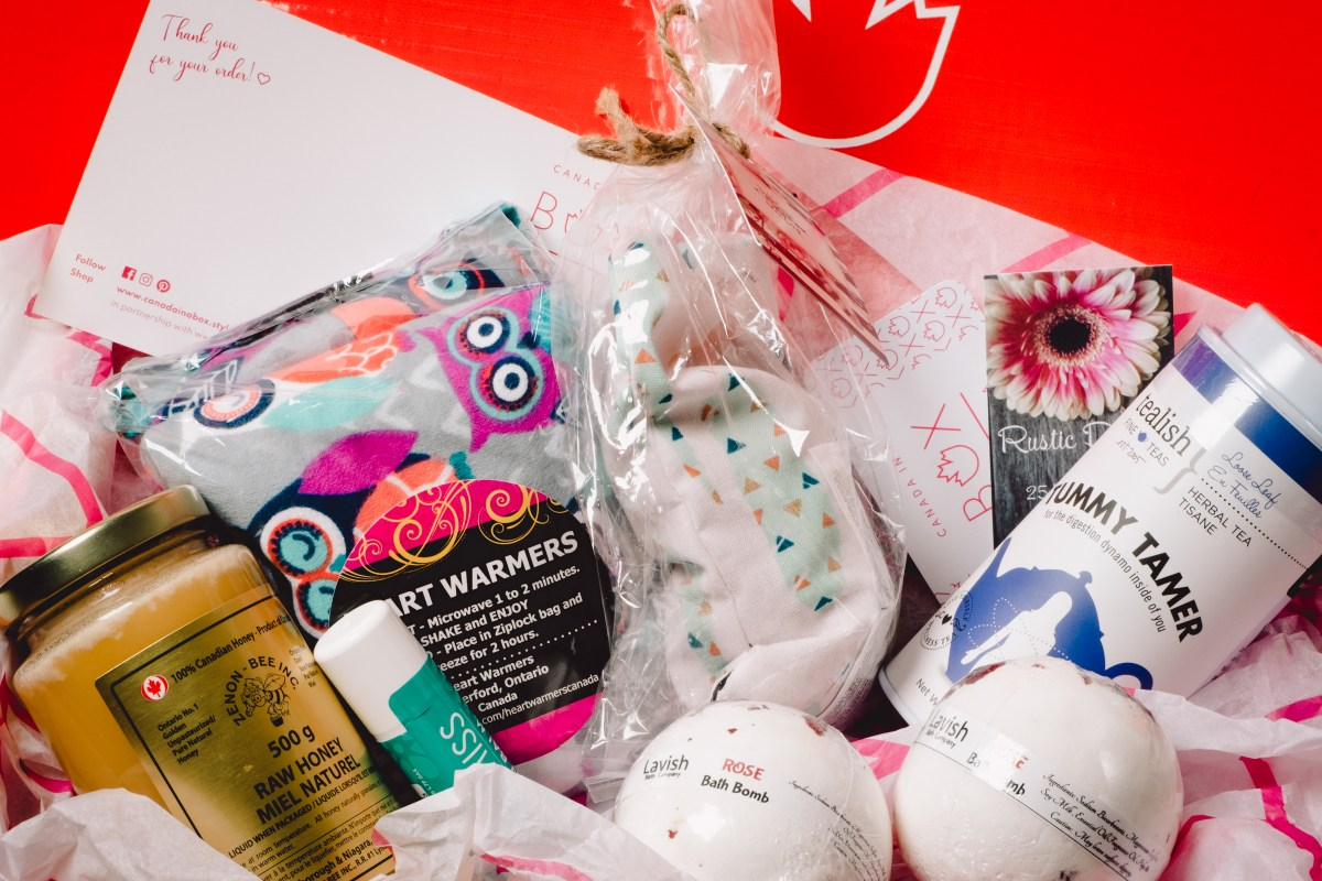 Get Well Soon Box by Canada in a Box 100% Canadian Subscription & Gift Boxes