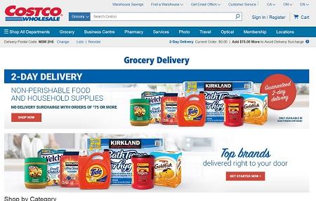 Costco mở dịch vụ giao hàng đi chợ mua trên mạng ở miền nam Ontario