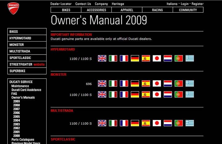 ducati manuals on line | canada moto guide