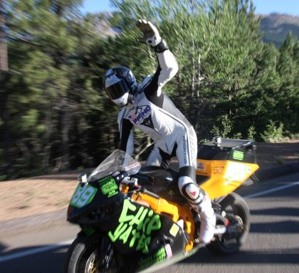 Chip Yates, after his 2011 Pikes Peak race. Now he's off to fly across the Atlantic - or at least try.