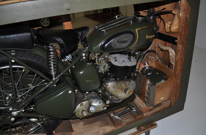 1957 Triumph TRW still in shipping crate