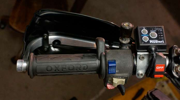 The Oxford heated grips were a must-have addition for our colder climate.