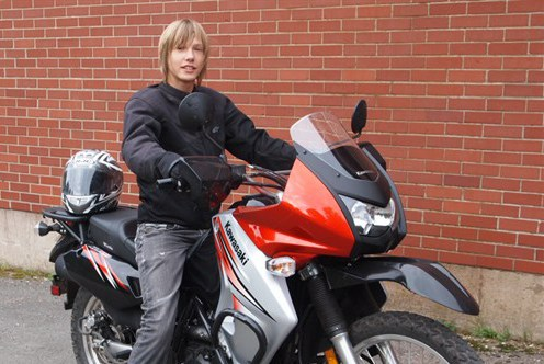 Here's Pavel with his new KLR650. He took to the road just days after getting his motorcycle license. Photo: Pavelstravels.com
