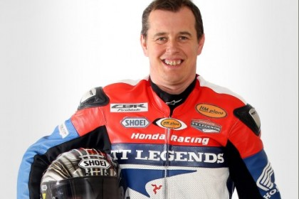 John McGuinness still managed a podium finish, despite his pit lane woes. Photo: Hondaproracing.com