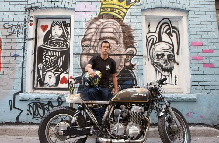 George Stroumboulopoulos, motorcyclist