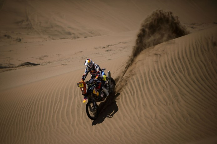 Ruben Faria got a hand from team mate Cyril Despres and finished second. Photo: M. Maragni/KTM