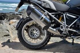 Stock Metzeler Tourance Next tires grip with remarkable tenacity on dirt roads.