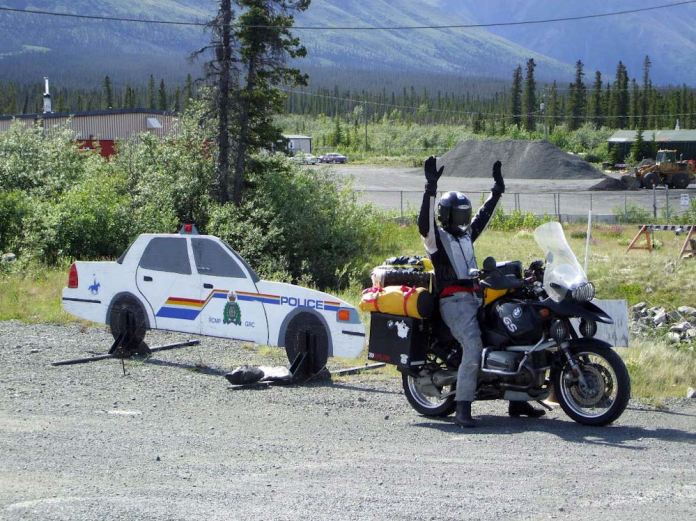In rural Canada, traffic enforcement tends to be a little more loose. Photo: Adventurecycle.org