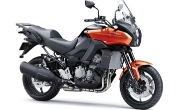 Here's what the orange Versys looks like, available in Canada in 2013. Photo: Kawasaki