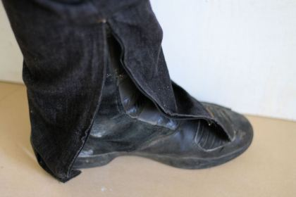 A zipper at the bottom of the pant legs makes it easier to get the Axioms over your boots.