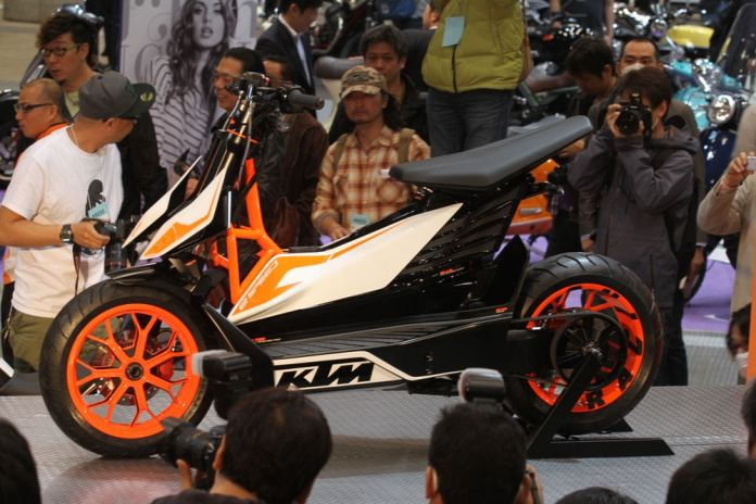 KTM's new electric scooter is still at the concept stage. Photo: KTM