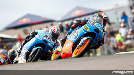 Rins and Maverick rode hard in an impressive Moto 3 race.