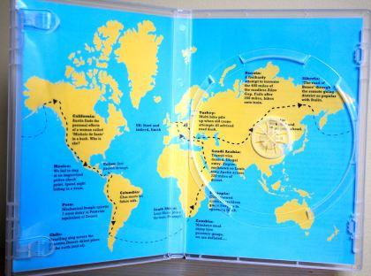 The DVD case humorously shows a rough outline of Mondo Enduro's route. Photo: Zac Kurylyk