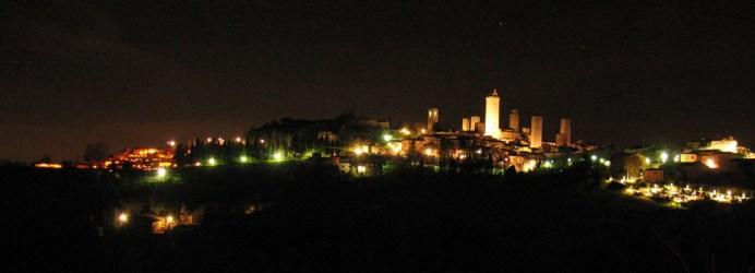 San Gimignano by night. Photo: Paolo Perico