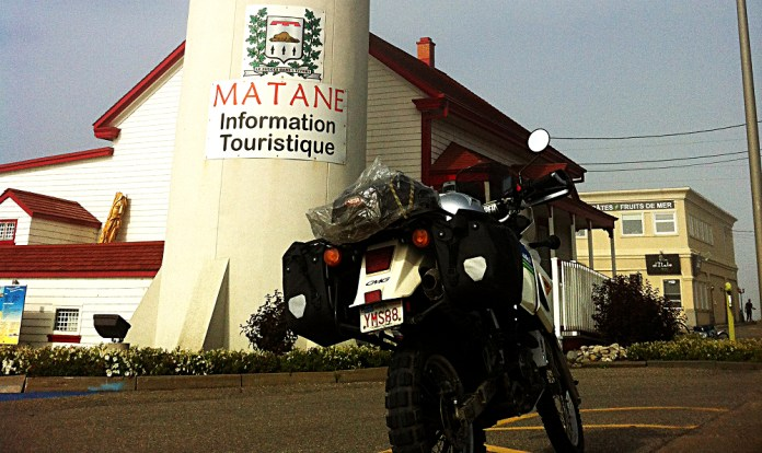 Rob used the Ortlieb bags with a rack while he rode Matane. Photo: Jim Vernon