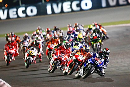 Fast times off the line in Qatar. Photo: MotoGP
