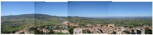 And this is the amazing view from one of the 100 towers of San Gimignano. Definitely worth the trip.