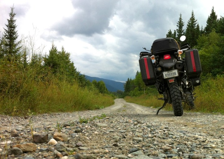 A lot of the main forestry roads are pretty straight, until you hit the mountains.