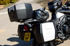 Optional accessories include bags, top box, heated seat and grips and Arrow pipe.