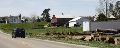Note the Amish buggy by the barn, cleverly avoiding Kurylyk's covert photo attempts. Photo: Zac Kurylyk