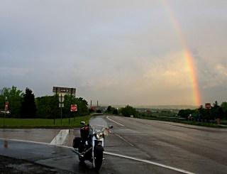 The rain breaks en route to Sevierville on Wednesday night. Photo: Zac Kurylyk