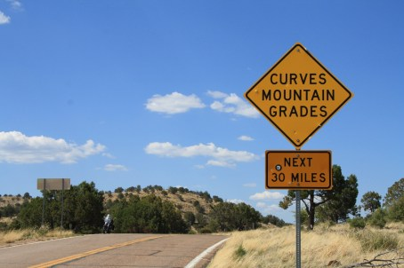 This sign gives you an idea of what lies ahead on 191. Photo: Zac Kurylyk