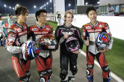 Stacey Nesbitt made it all the way to Qatar last year, for the Asia Dream Cup, but for 2013, she's taking part in the RACE series.