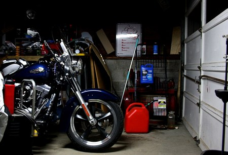 Storing bikes at a friend's garage is standard practice in the motorcycle community, although it comes with some potential drawbacks.