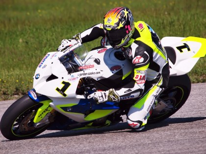 Szoke proved he's still fast, by taking his 41st career CSBK Superbike win. Photo: Rob MacLennan