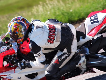 Marie-Josee Boucher managed a seventh-place finish in her first CSBK race since last year's Shubie crash. Photo: Rob MacLennan