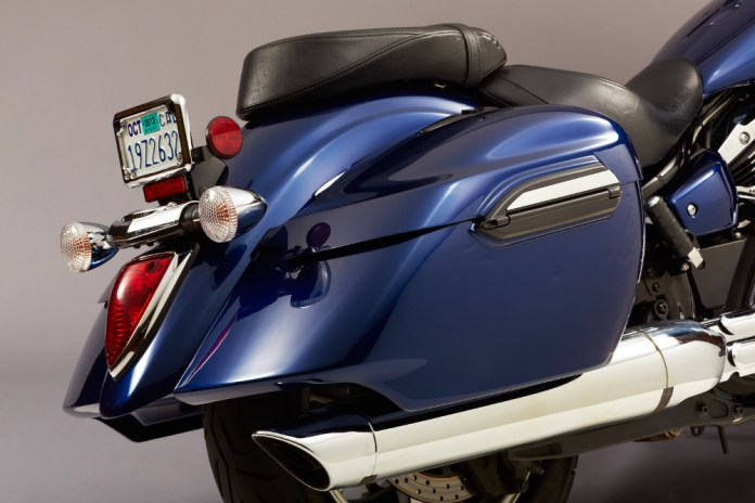 Not only will those saddlebags haul all your swag, you can also plug an iPod or iPhone into your bike's sound system inside the bag. Photo: Yamaha