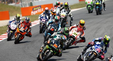Nobody here was able to get in front of leader Jorge Lorenzo. Photo: MotoGP