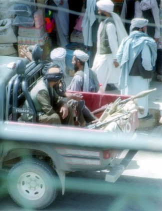 Reduced to riding in trucks, the Taliban figure out how to get their two-wheelers back. Photo: Wikipedia