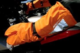 Aerostich orange glove covers 4