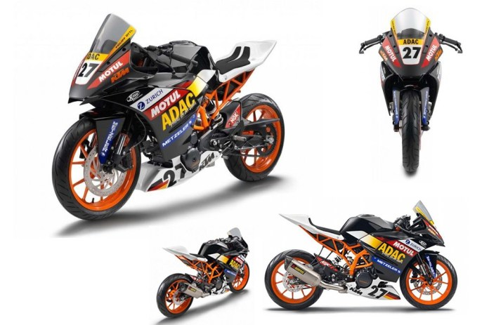 Here are some views of the KTM RC390.